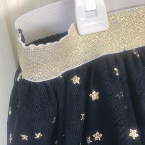 GAP Bottoms - Girls Gap Navy Tulle Skirt w/ Gold Stars Sz L